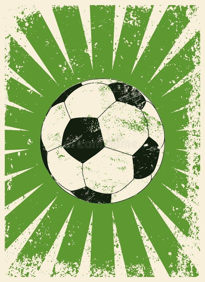 Плакат стиля grunge футбола типографский винтажный Плакат стиля grunge футбола типографский винтажный также вектор иллюстрации пр бесплатная иллюстрация