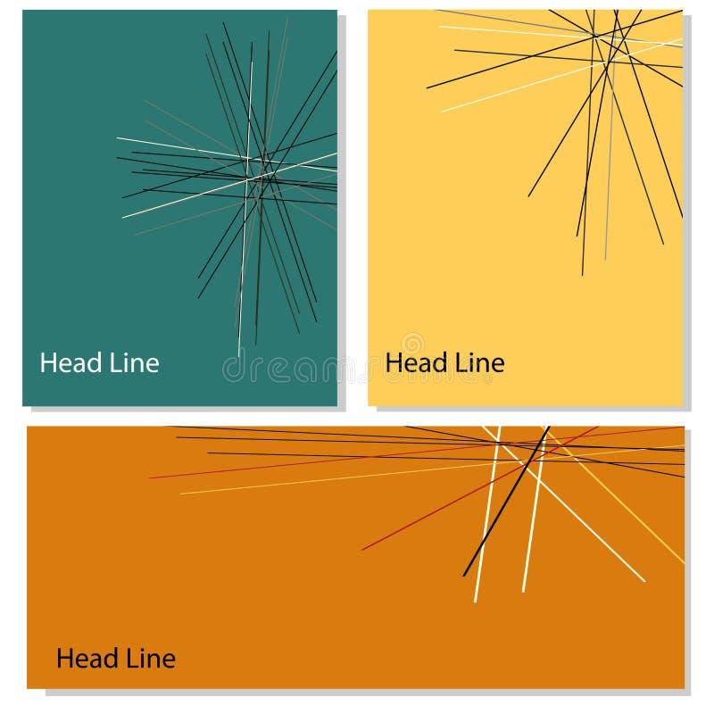 Плакат с линией вектором конспекта формирует дизайн baner иллюстрация вектора