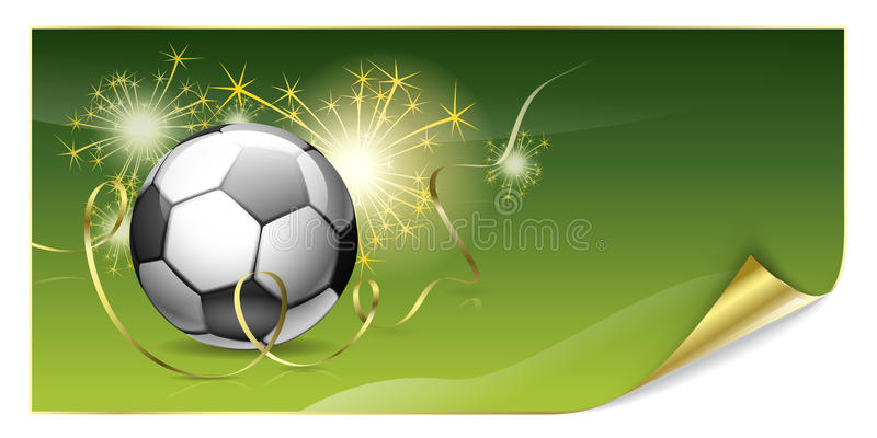 плакат футбола иллюстрация вектора