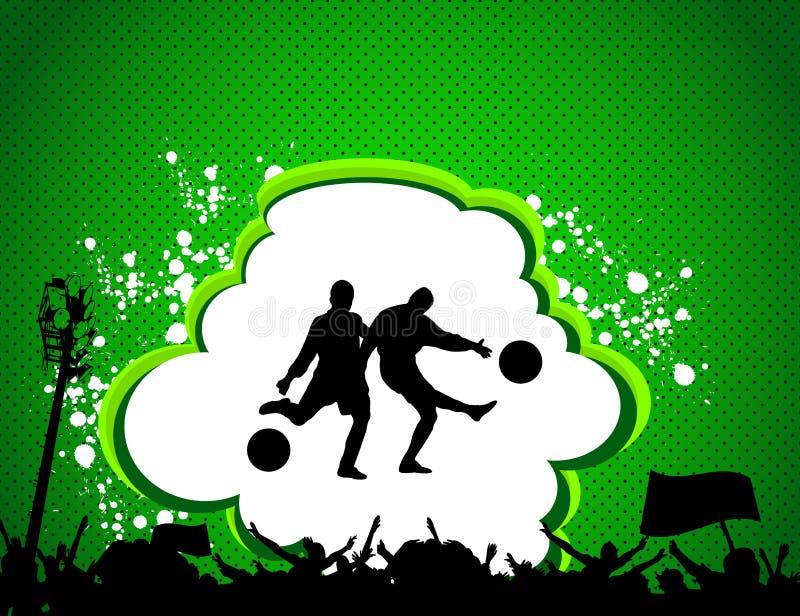 плакат футбольного матча иллюстрация штока