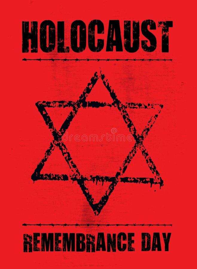 Плакат холокоста, звезда jude r иллюстрация вектора