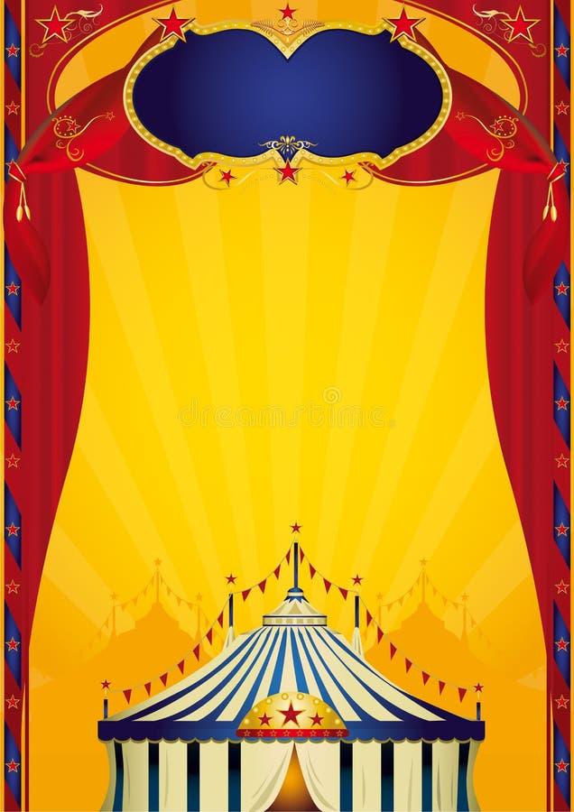 плакат цирка beautifull иллюстрация вектора
