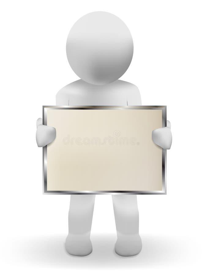 плакат человека 3d бесплатная иллюстрация