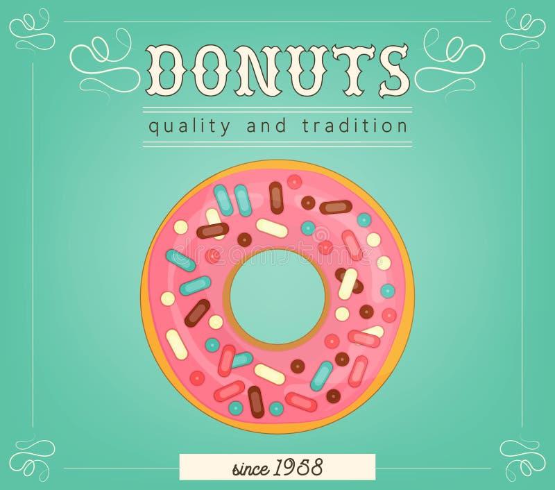 Плакат Donuts иллюстрация штока