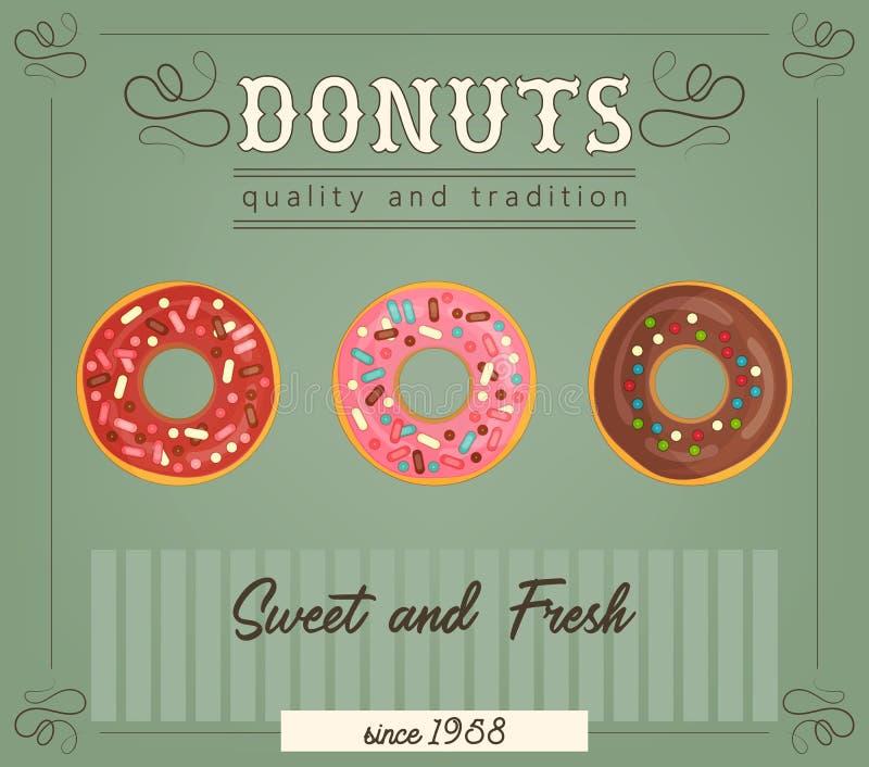 Плакат Donuts бесплатная иллюстрация