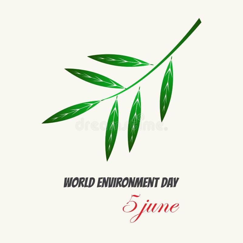 Плакат eco карты дня мировой окружающей среды иллюстрация штока