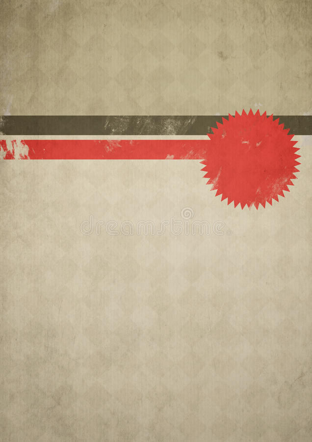 плакат grunge ретро иллюстрация вектора