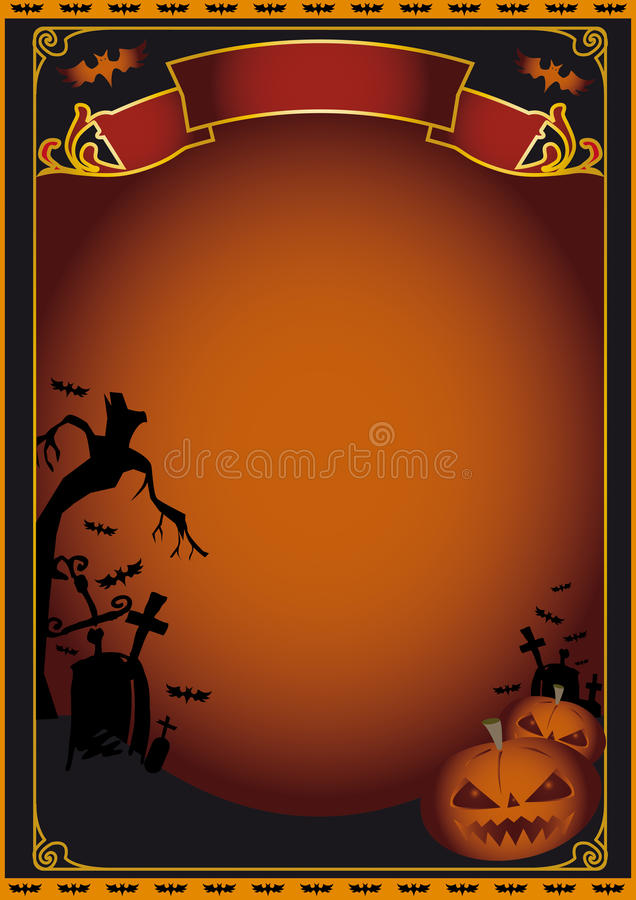 плакат halloween иллюстрация вектора