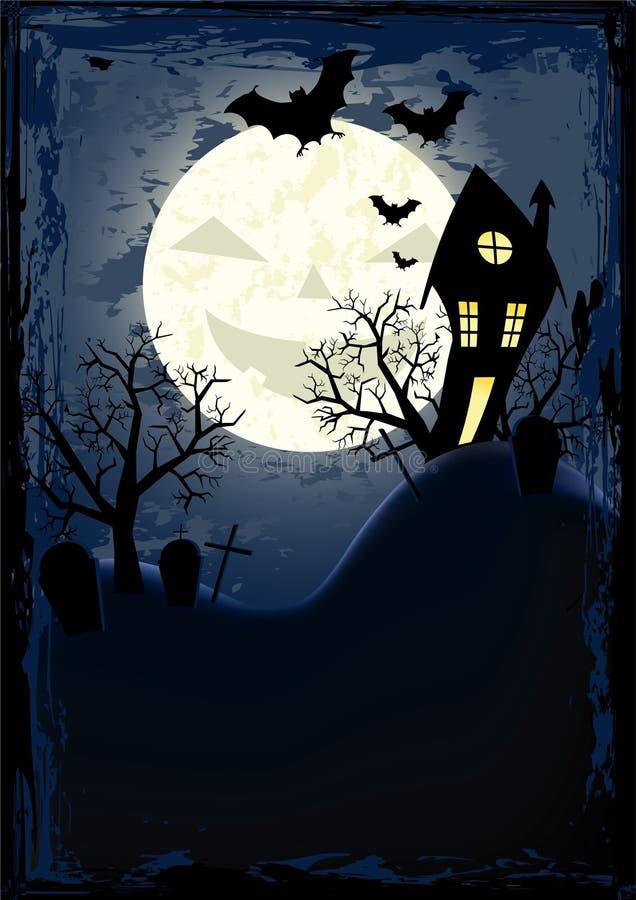 плакат halloween grunge иллюстрация вектора