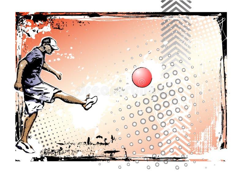 плакат kickball предпосылки иллюстрация штока