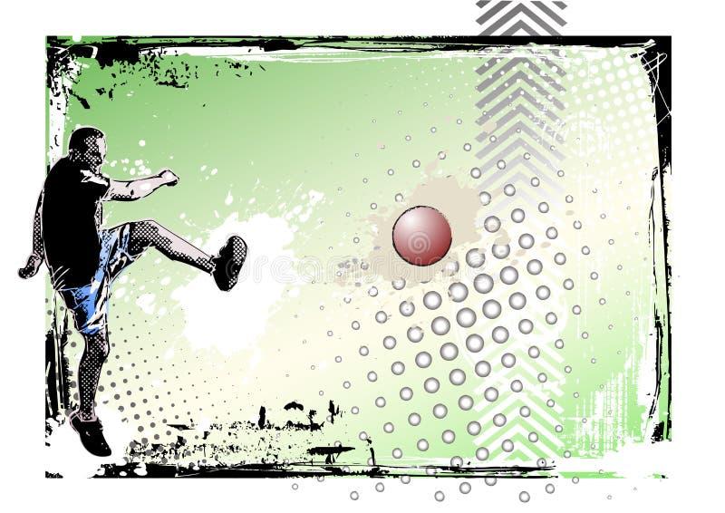 плакат kickball 2 предпосылок иллюстрация вектора