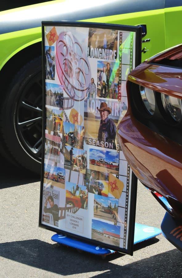 Плакат Longmire снятый от винтажной выставки автомобиля стоковое фото