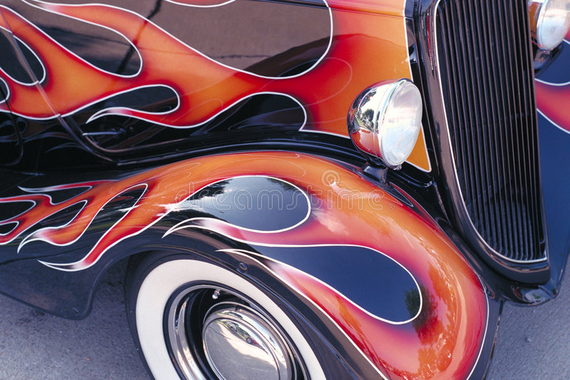 пламена классики автомобиля Стоковая Фотография