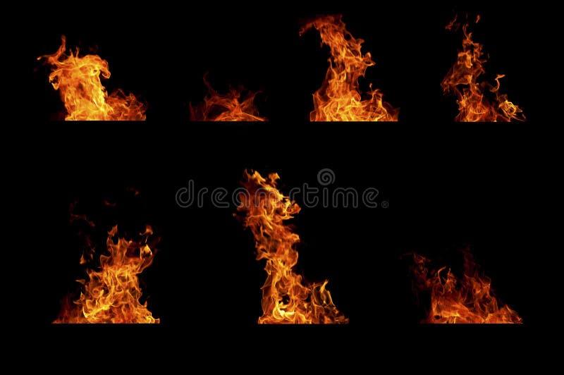 пламена пожара collcetion стоковая фотография rf