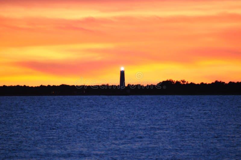 Пламенистый маяк стоковые изображения