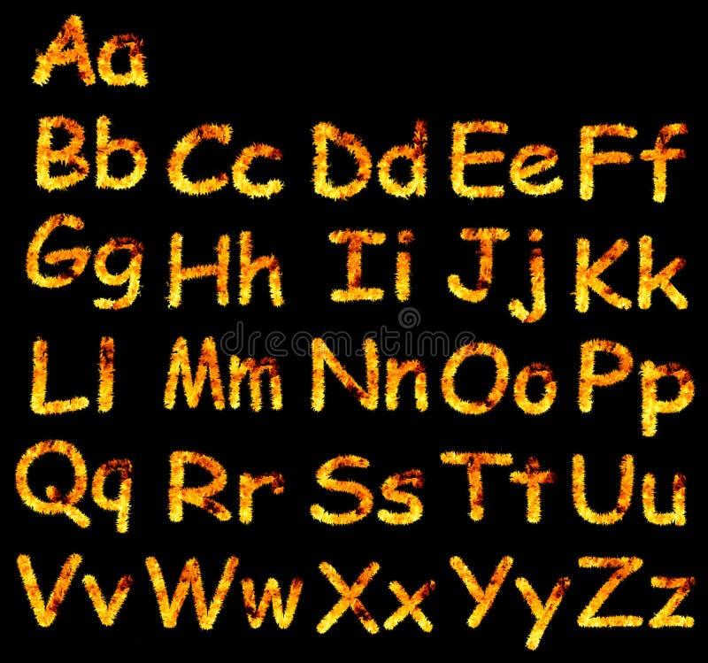 пламя алфавита стоковые изображения rf