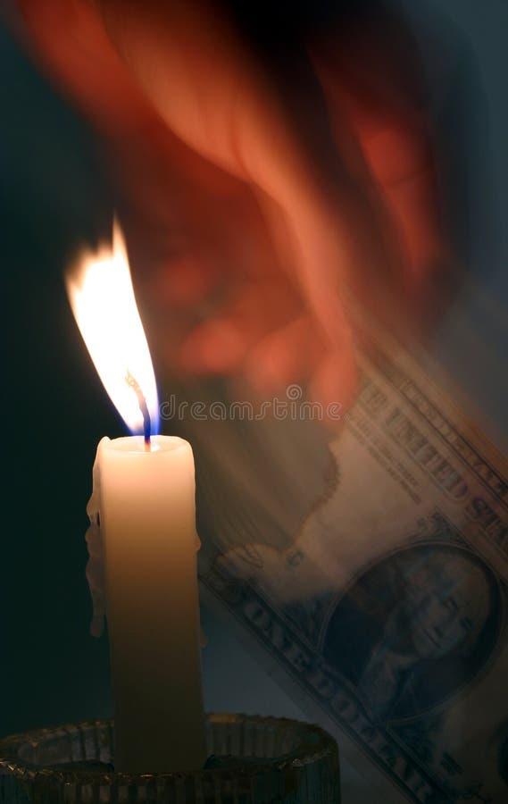пламя вне стоковое изображение rf