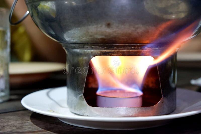 Пламя еды стоковые изображения