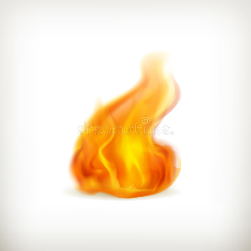 Пламя, икона иллюстрация штока