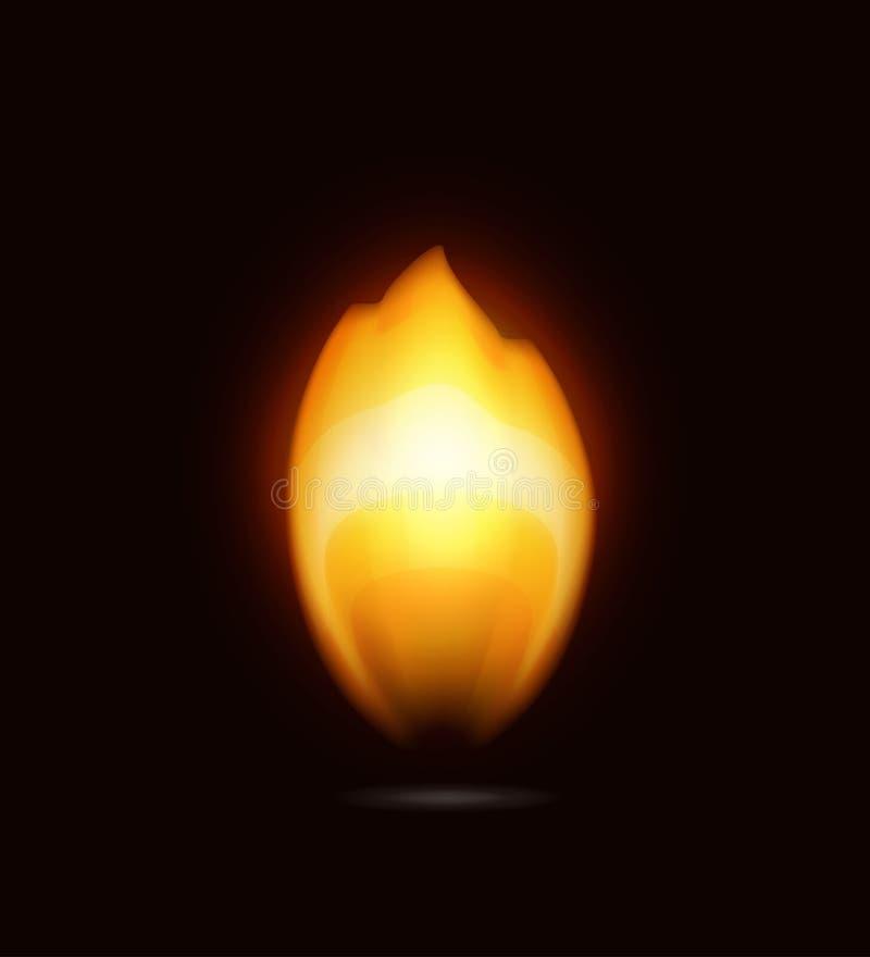 Пламя на черноте, иконе иллюстрация вектора