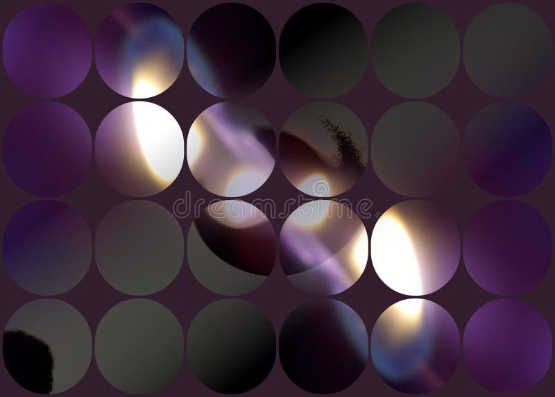 Пламя огня на фиолетовой checkered предпосылке бесплатная иллюстрация