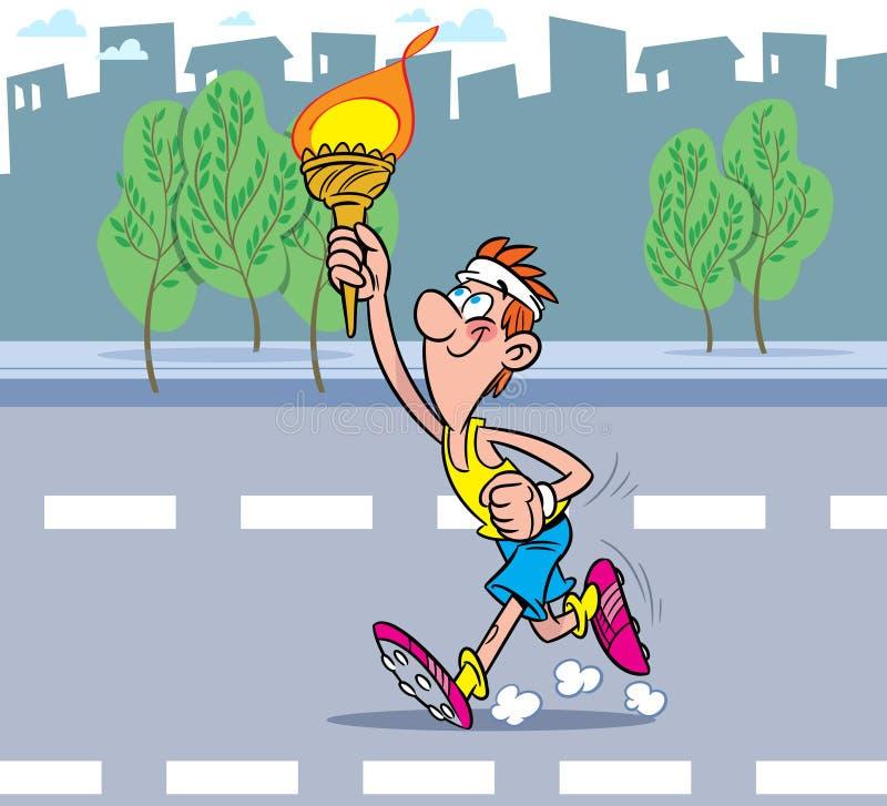 картинка спортсмен бежит с факелом спиртзавод планирует