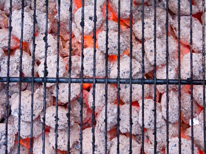 пламя угля стоковое фото