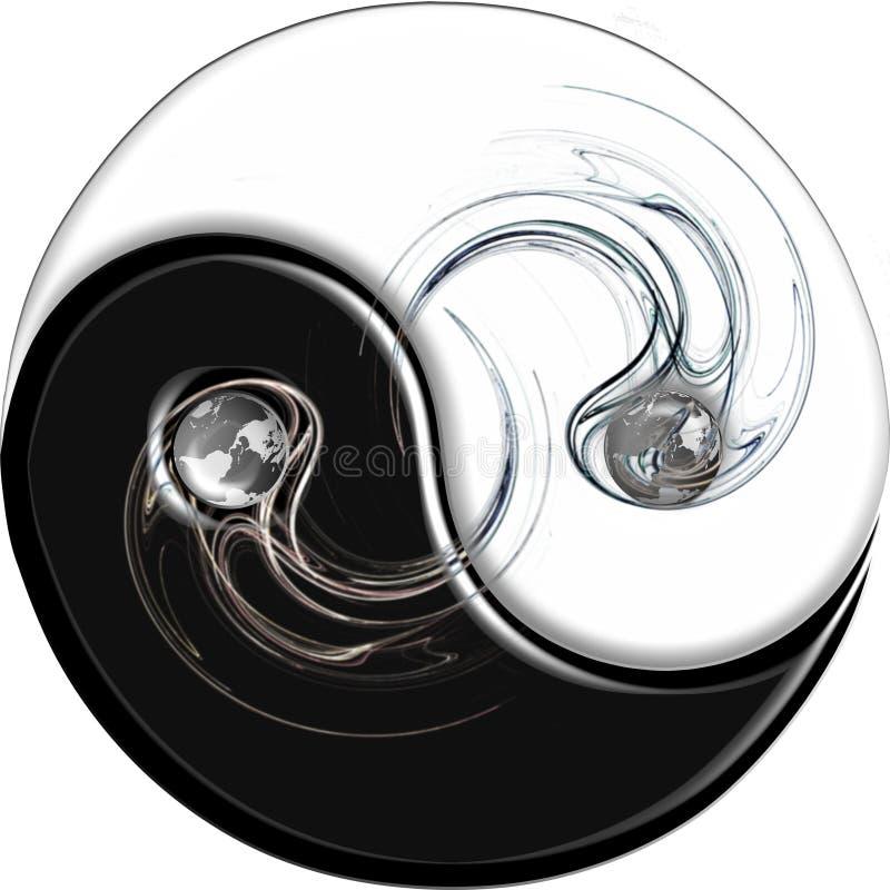 пламя yang ying иллюстрация вектора