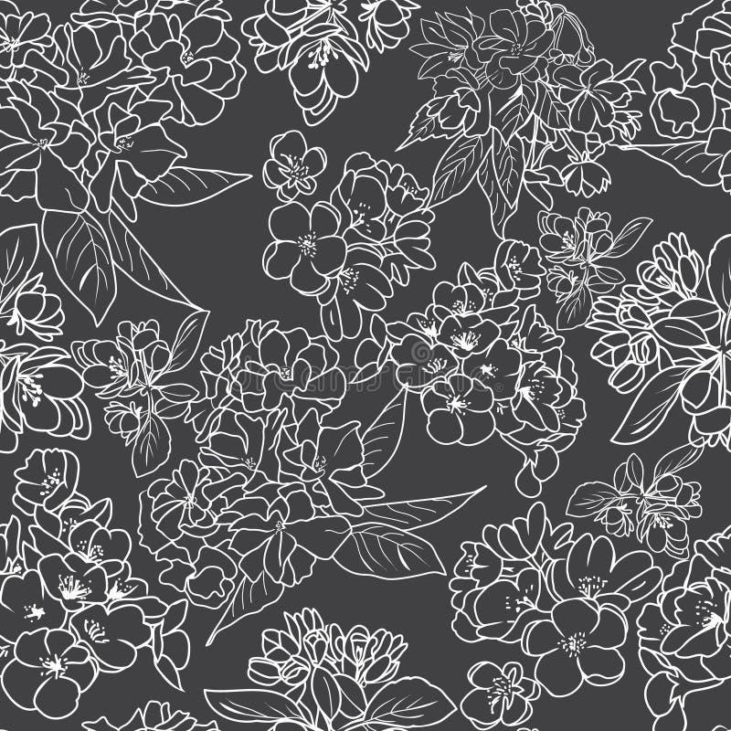 Плана цветения ¡ Ð предпосылка herry ботаническая иллюстрация вектора
