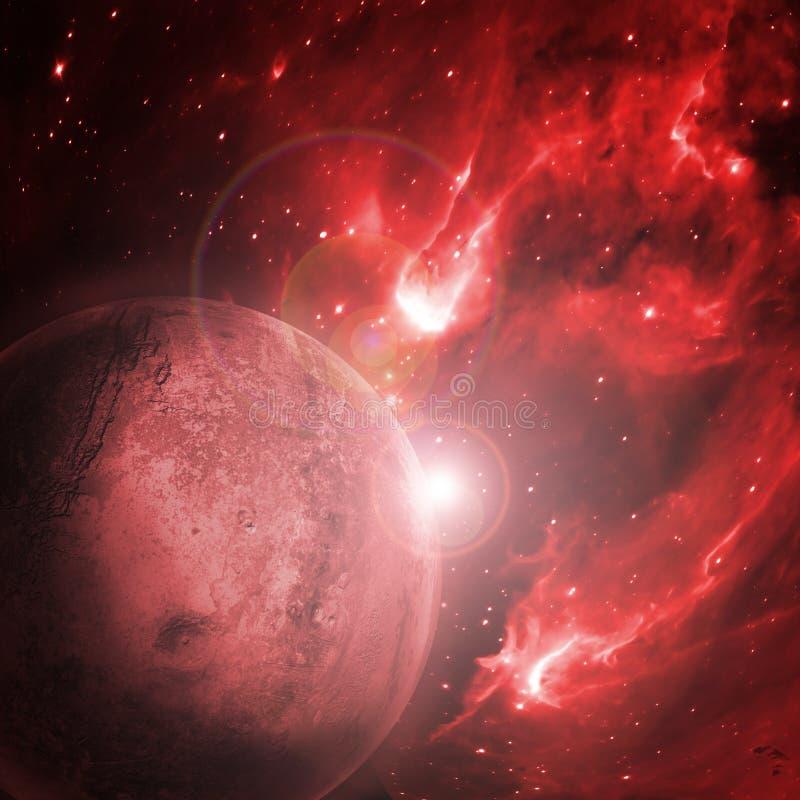 планета ада стоковое изображение rf