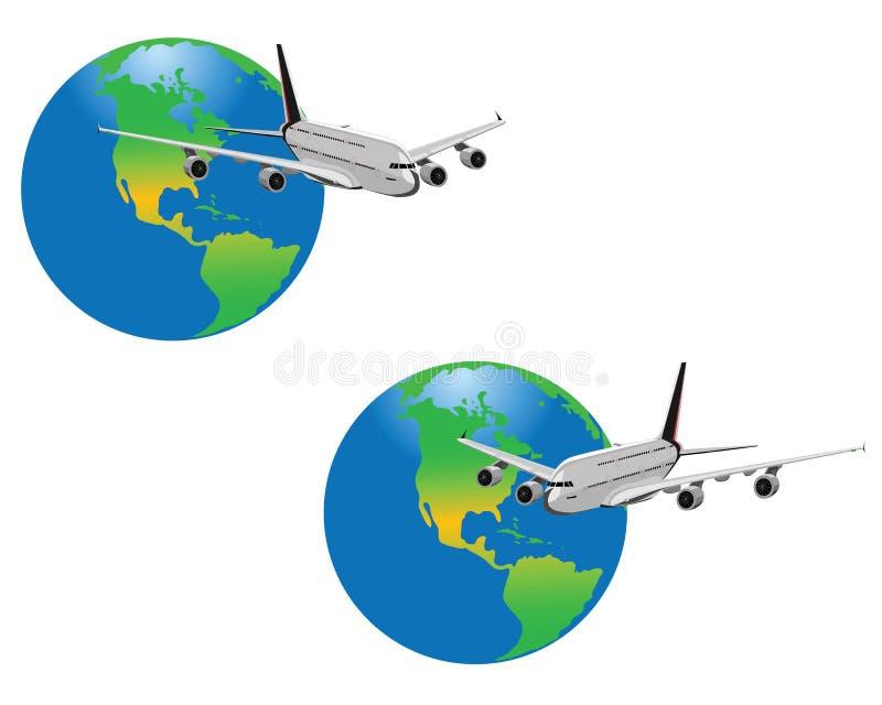 планета аэроплана иллюстрация штока