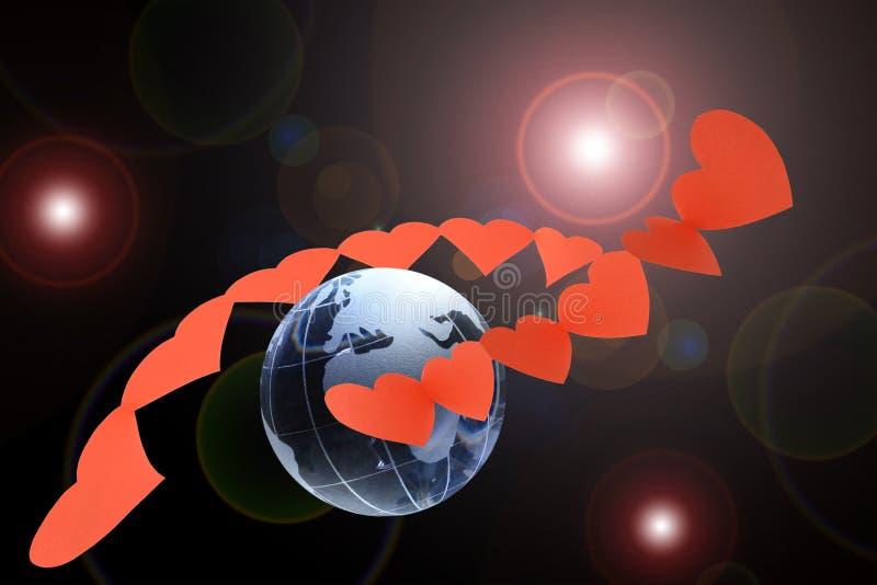 планета влюбленности стоковые фото