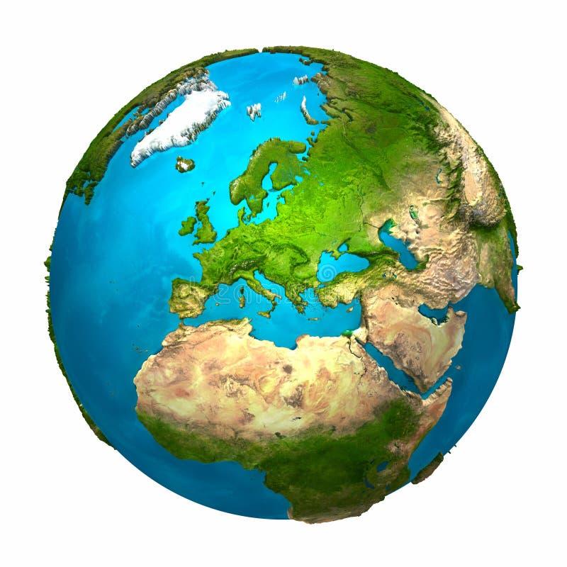 планета европы земли иллюстрация вектора