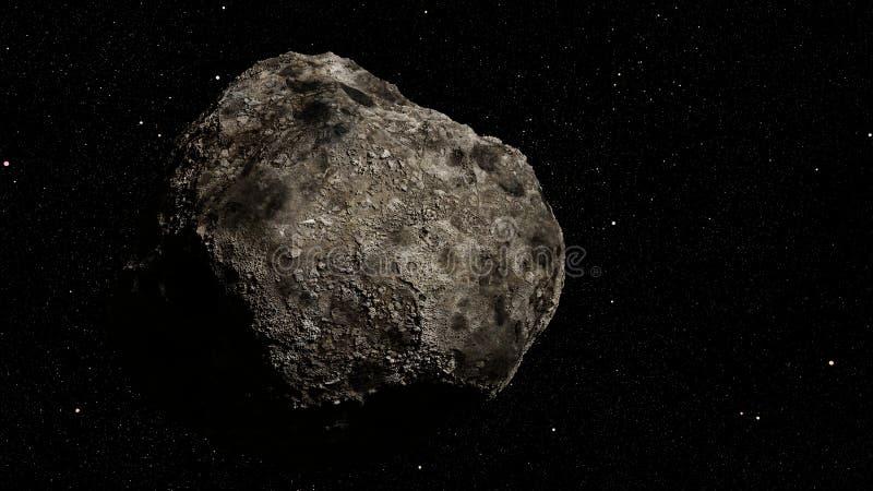 Планета карлика кольца астероидов осветила к Солнце и звезды галактики 3d млечного пути размечают иллюстрацию стоковая фотография