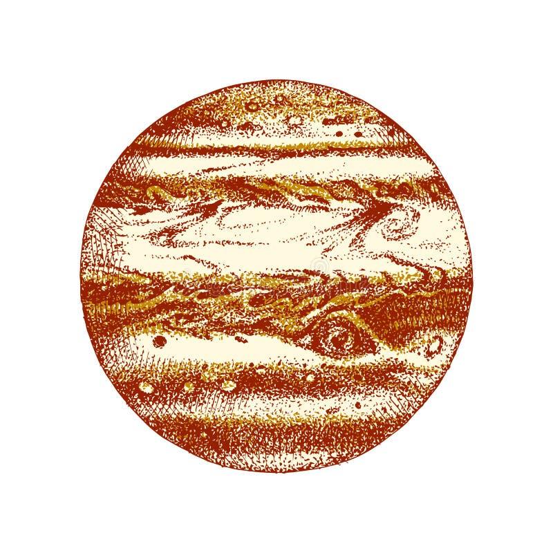 Планета нарисованная рукой Юпитер бесплатная иллюстрация