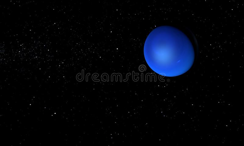 Планета Нептуна Тема космоса : иллюстрация штока