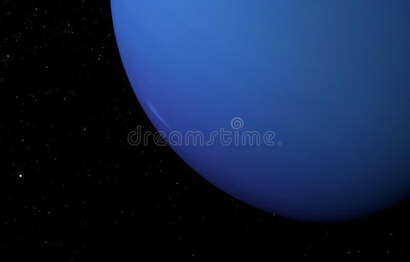 Планета Нептун на предпосылке звезд иллюстрация 3d бесплатная иллюстрация