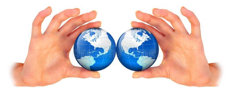 планета руки земли стоковые фото