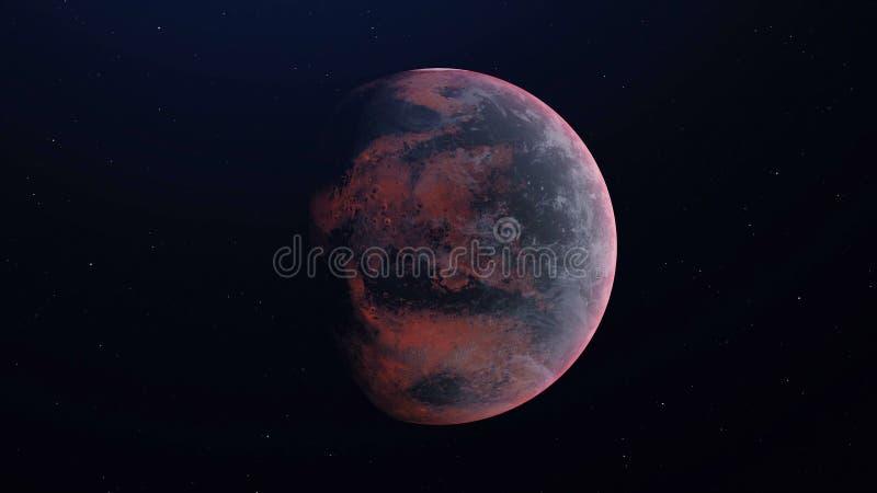 Планета чужеземца в космическом пространстве - 3D представило бесплатная иллюстрация