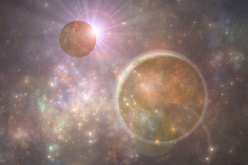 Планета чужеземца глубокого космоса иллюстрация штока