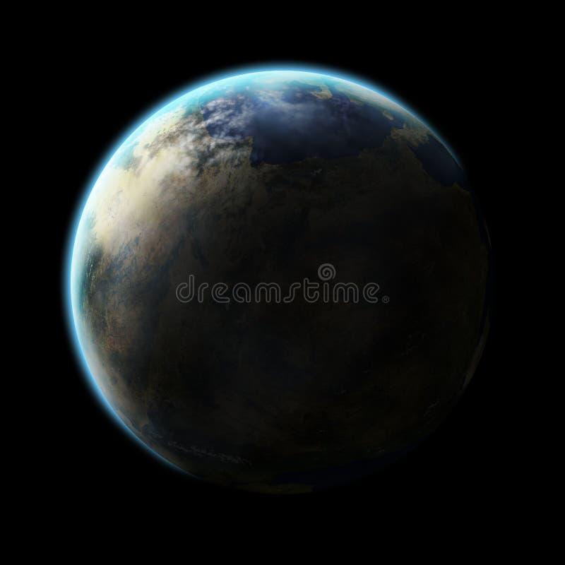 Планета чужеземца иллюстрация штока