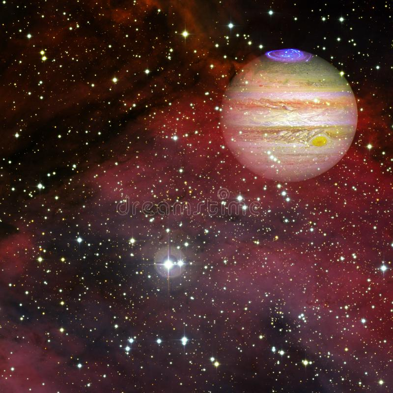 Планета Юпитер r иллюстрация штока