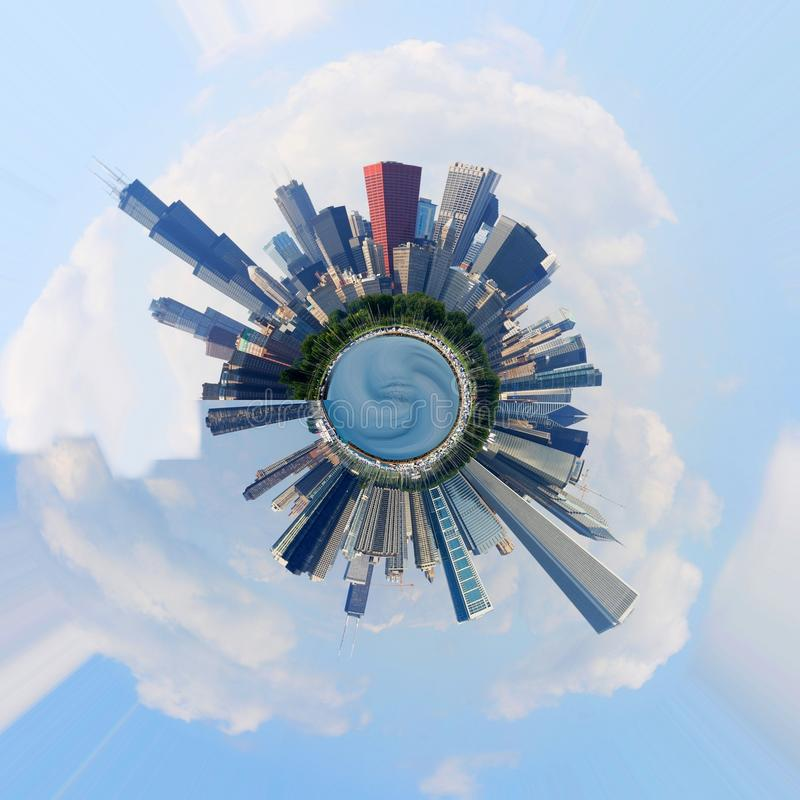 планета chicago бесплатная иллюстрация