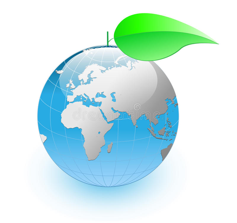 планета eco иллюстрация вектора