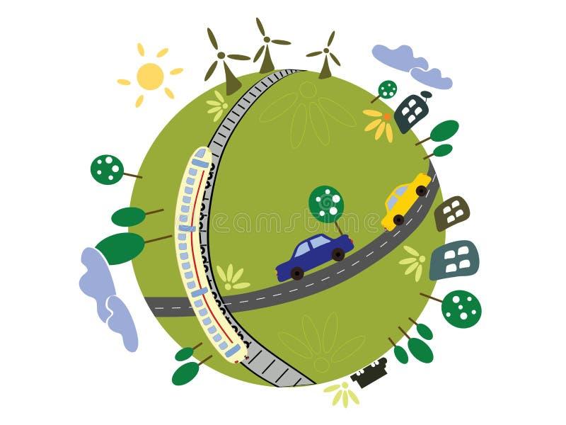 планета eco стоковые фото