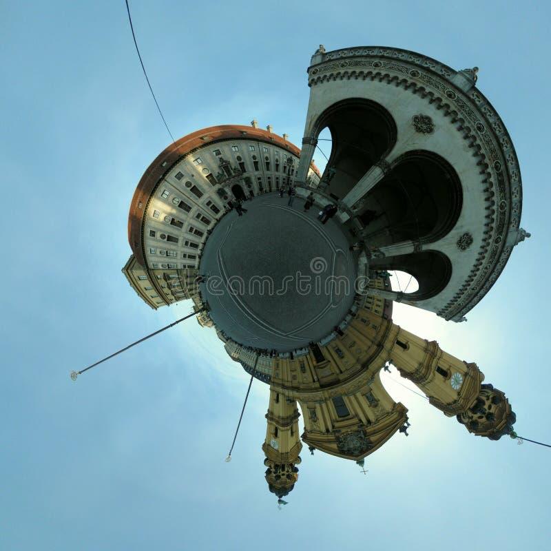 планета odeonsplatz стоковая фотография rf