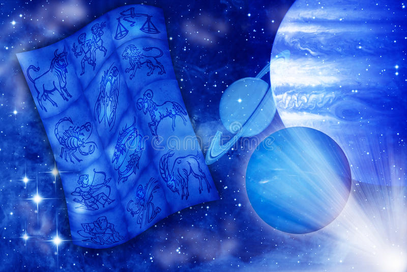 планеты астрологии иллюстрация вектора