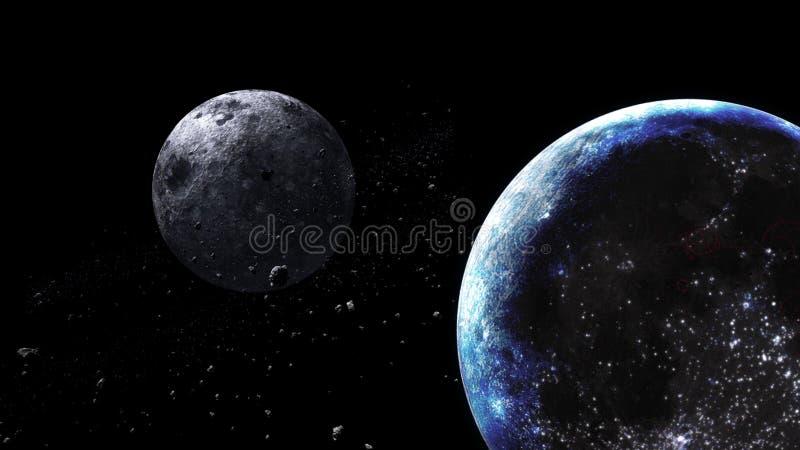 Планеты и галактика, космос, физическая космология стоковое изображение rf