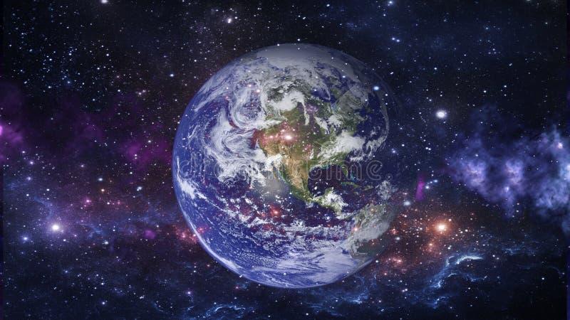Планеты и галактика, обои научной фантастики Красота глубокого космоса бесплатная иллюстрация