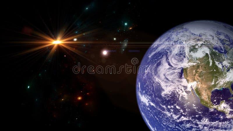 Планеты и галактика E стоковые фото